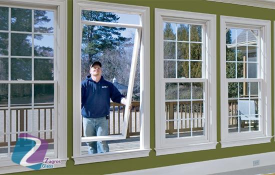 عوض کردن شیشه های یک جداره با شیشه های دو جداره