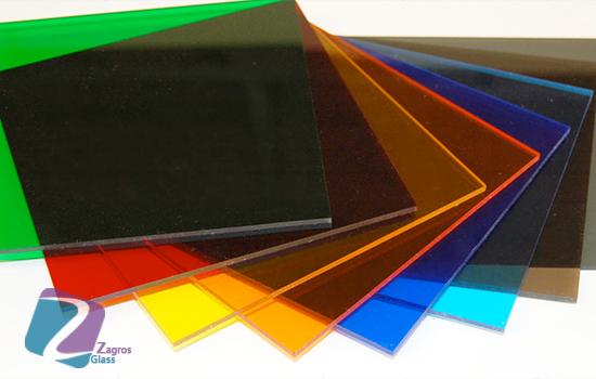 شیشه های لیمنت رنگی
